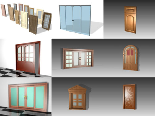 Colección de 20 modelos 3D sin puertas con alto detalle