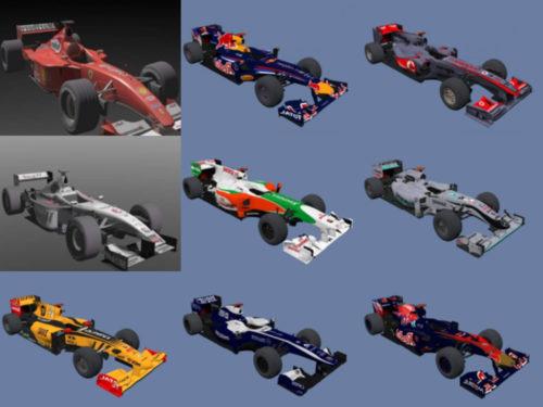 20 colección de modelos 1D sin coches F3 altamente detallados