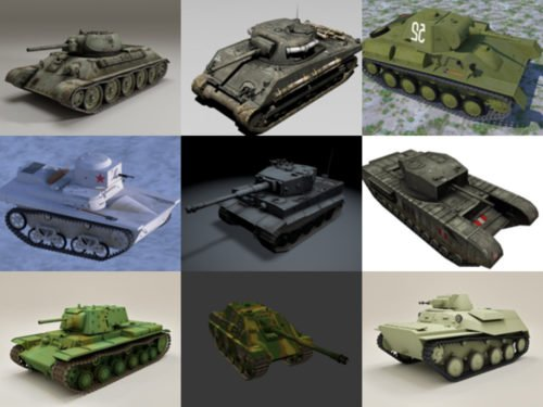 23 erittäin yksityiskohtaista WW2-säiliön ilmaista 3D-mallia