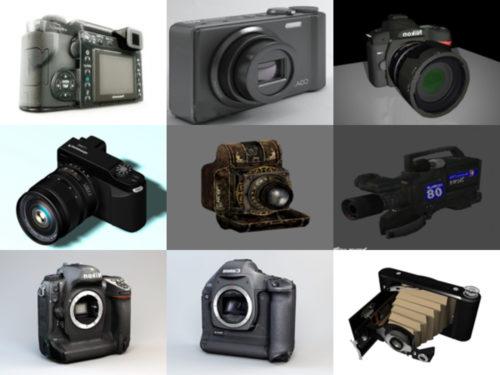 20 نموذجًا ثلاثي الأبعاد مجانيًا للكاميرا عالية الجودة