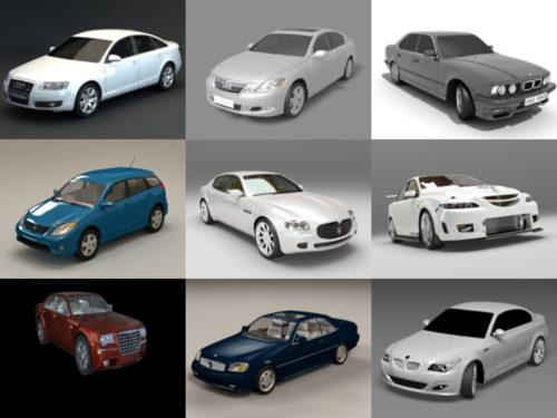 20 korkealaatuista sedania, ilmaista 3D-mallia