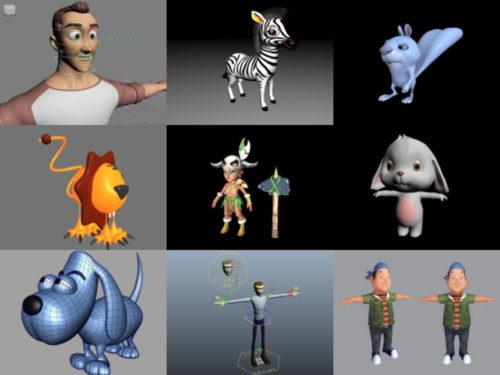 20 Maya Modelos 3D de personajes de dibujos animados - Colección Semana 2020-37