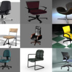 20 Office Chair Free 3D Models Collection