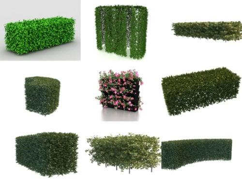 20 Realistista Hedge Free 3D -mallia