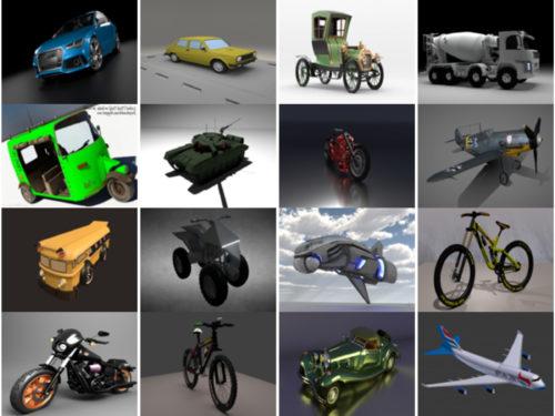 20 Ajoneuvo BlendIlmaiset 3D-mallit - viikko 2020-40