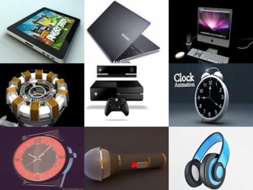 25 أدوات عالية الجودة Cinema 4D نماذج مجانية 3D