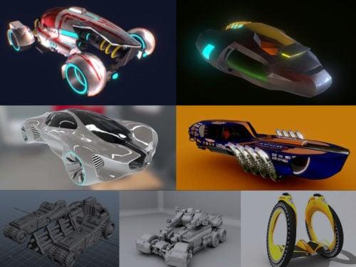 10 Sci-Car 3D -mallimallisto