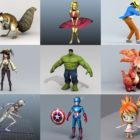Top 10 karakter - 2020 uge 36 - Samling af 3D-modeller
