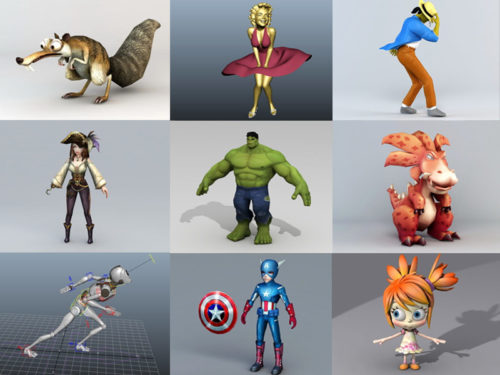 Top 10 Character - 2020 Week 36 - Colección de modelos 3D