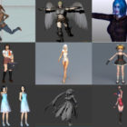 Top 10 animerede piger gratis 3D-modeller