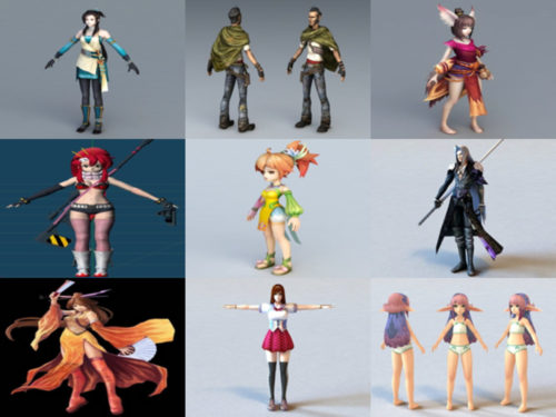 10 anime-hahmotonta 3D-mallia - viikko 2020-38