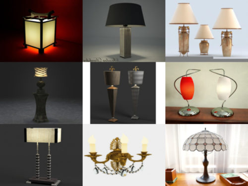 10 Beauty Lamp Free 3D Models – Week 2020-38