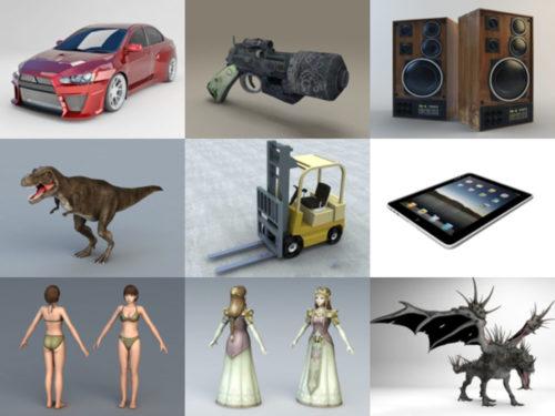 أعلى 10 OBJ نماذج ثلاثية الأبعاد - مجموعة الأسبوع 3-2020