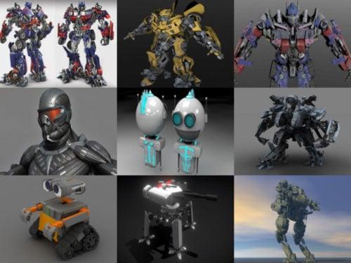 10 modelos 3D sin robots - Semana 2020-38