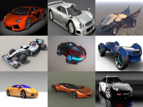 Top 10 urheiluauto Obj 3D-mallit - Viikko 2020-37 -kokoelma