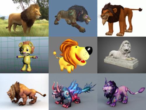 أفضل 15 نموذجًا ثلاثي الأبعاد مجانيًا لمجموعة الأسد ثلاثية الأبعاد