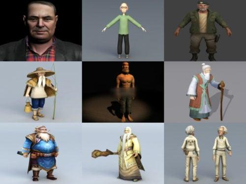 أفضل 15 مجموعة نماذج Old Man 3D