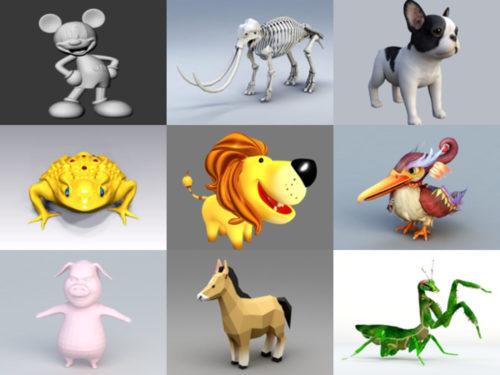 Top 20 animales OBJ Modelos 3D - Colección Semana 2020-37