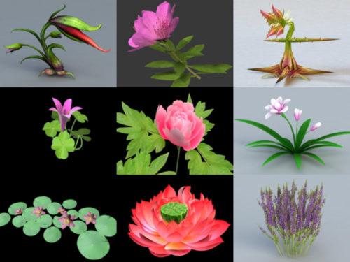 20 نموذجًا ثلاثي الأبعاد مجاني من Beauty Flower - الأسبوع 3-2020