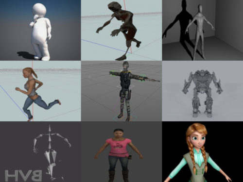 Top 20 Rigged Character Free 3D Models Collection