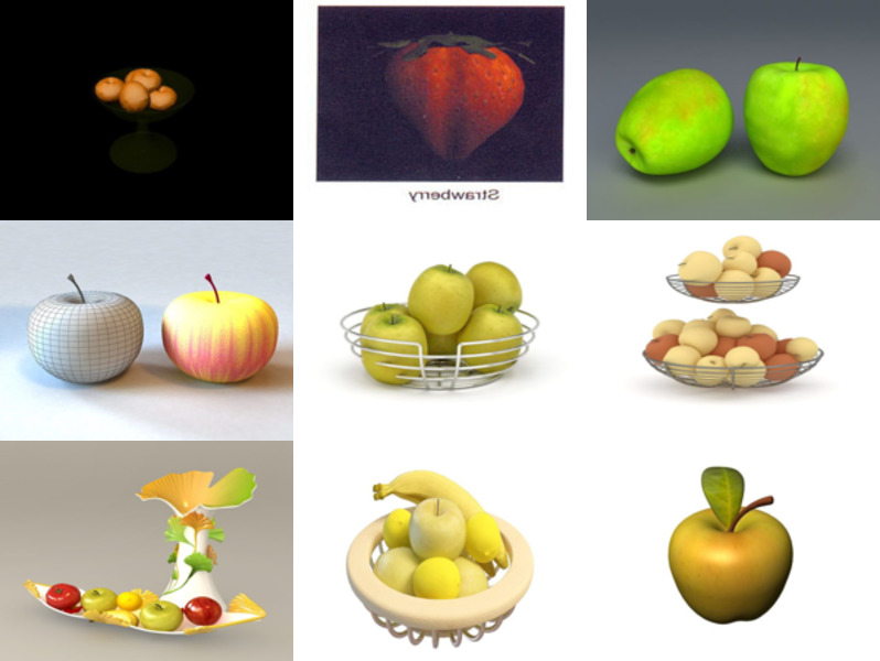 10 3ds Max Fruit 3D Models – Day 18 Oct 2020