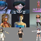 10 3ds Max Character Girl 3D Models – Day 16 Oct 2020