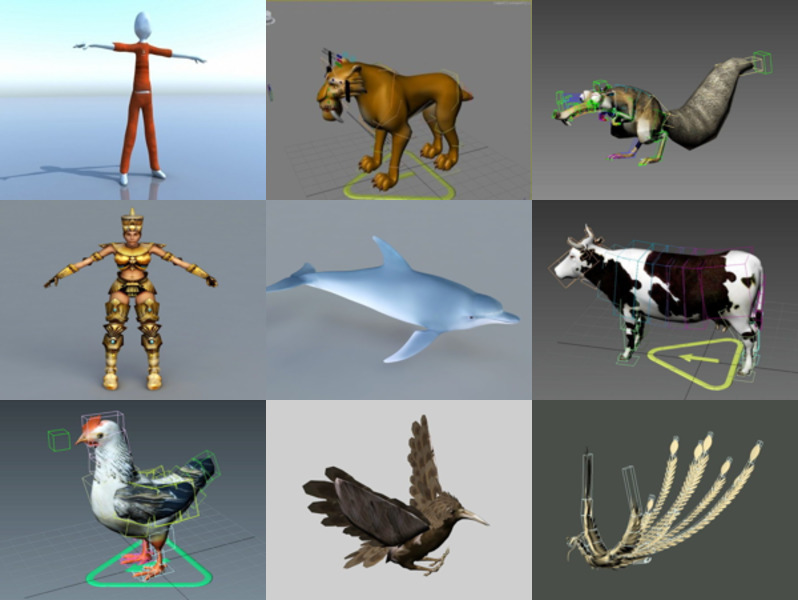 10 3ds Max Rigged 3D Models – Day 18 Oct 2020