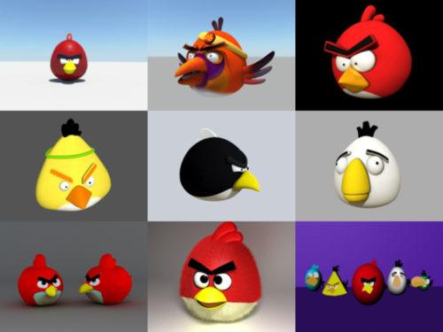 10 Angry Bird -peliä, ilmaiset 3D-mallit