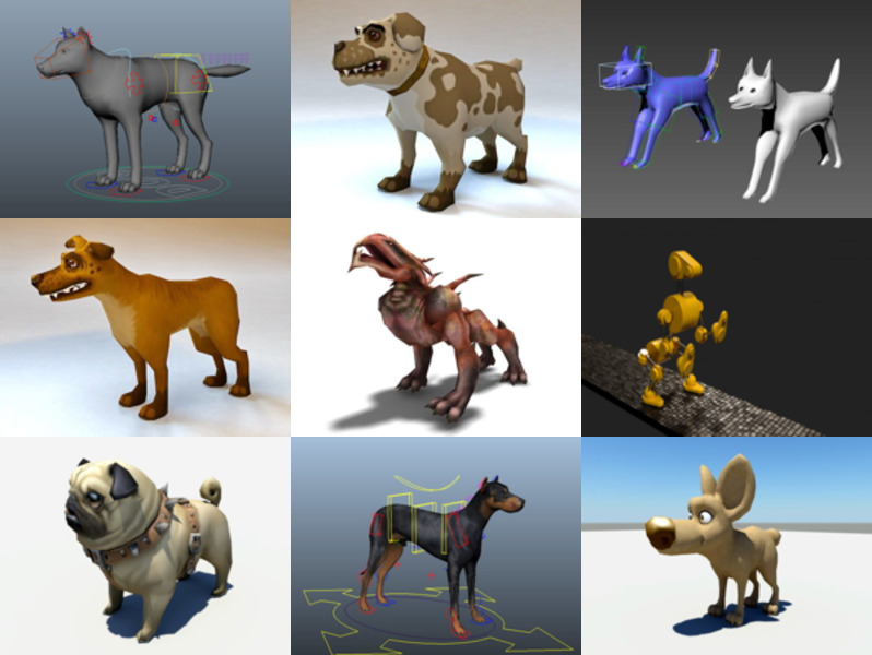 10 Animated Dog Free 3D Models – Week 2020-43