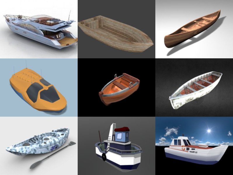 10 Blender Boat Free 3D Models - Semana 2020-43