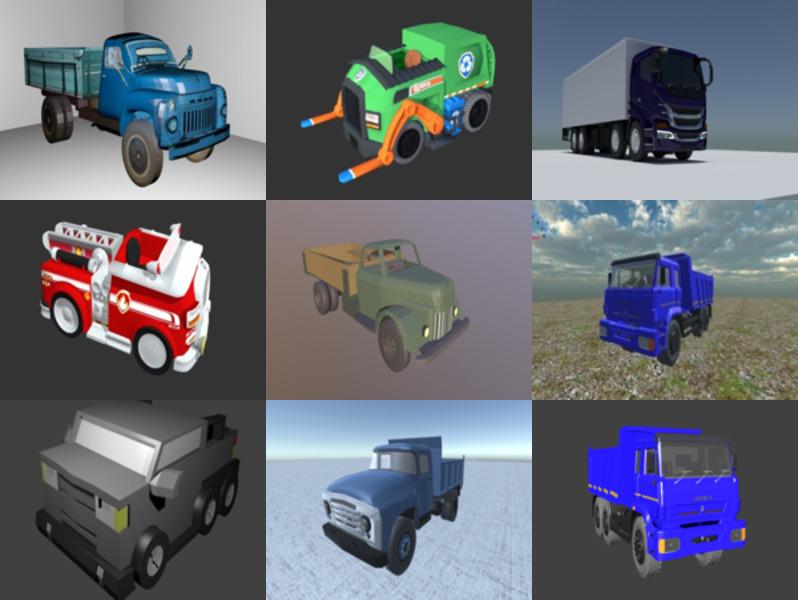 10 Blendنماذج 3D المجانية للشاحنات - الأسبوع 2020-43