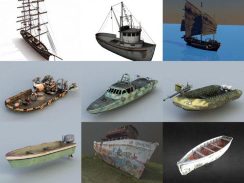 10 Venettä ilmaiseksi OBJ 3D-mallit - viikko 2020-41