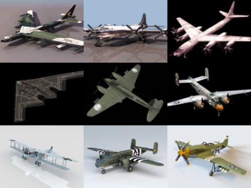 10 Bomber Aircraft Free 3D Models – Week 2020-41
