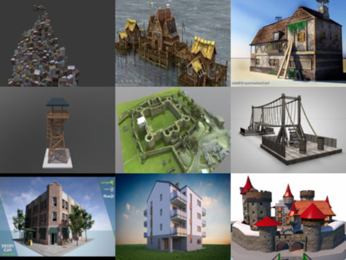 10 بناء مجاني OBJ نماذج ثلاثية الأبعاد - الأسبوع 3-2020