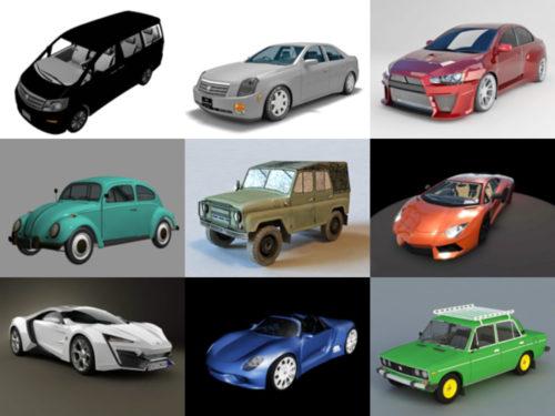 10 سيارات مجانا OBJ نماذج ثلاثية الأبعاد - الأسبوع 3-2020