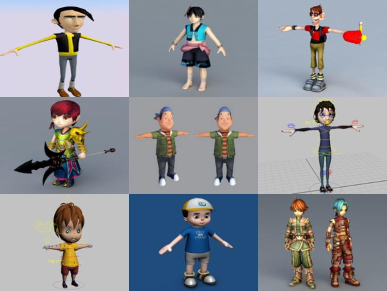 10 modelos 3D de personajes de dibujos animados - Semana 2020-43