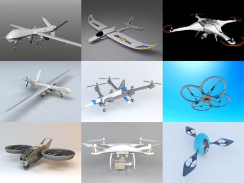 10 Drone Free 3D -mallikokoelma