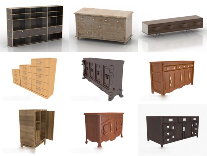 10 huonekalukaapin ilmaista 3D-mallia - viikko 2020-42