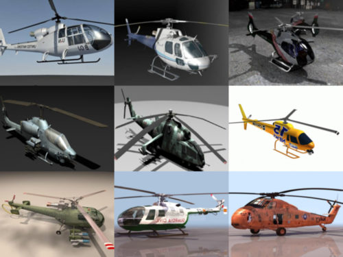 10 Helicopter Free 3D Models – Week 2020-41