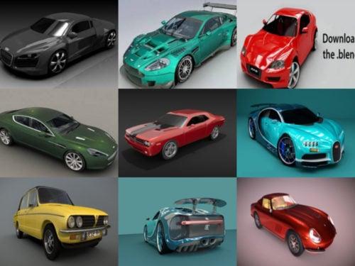 10 korkealaatuista autoa Blender 3D-mallit - viikko 2020-40