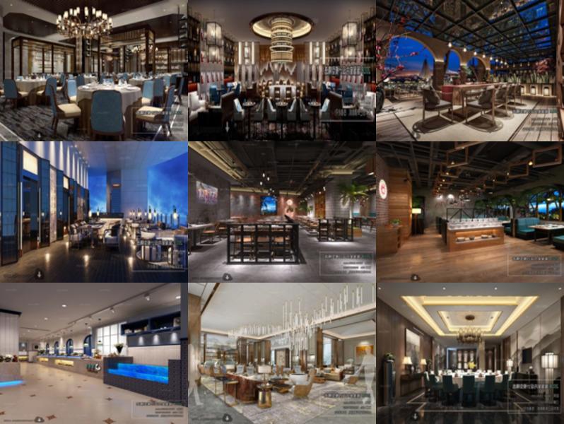 Colección de 10 modelos 3D de restaurante de hotel - Semana 2020-42