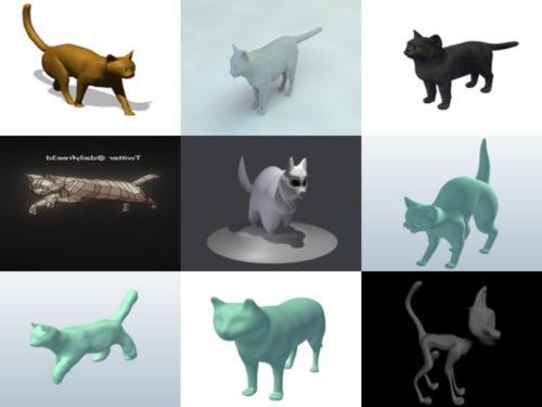 10 Lowpoly Kissan ilmaiset 3D-mallit Animal