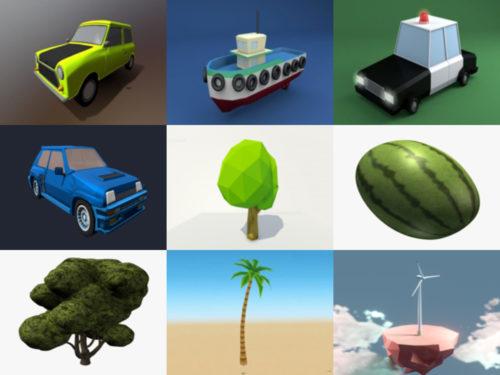 10 Lowpoly Ilmainen OBJ 3D-mallit - viikko 2020-41