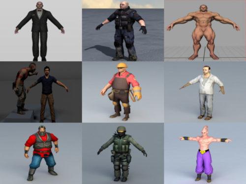 10 ihmisen hahmoton OBJ 3D-mallit - viikko 2020-41