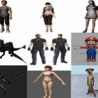 10 Maya Character 3D Models – Day 15 Oct 2020
