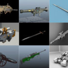 10 Maya Weapon 3D Models – Day 15 Oct 2020