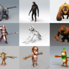 10 Monkey 3D Models Animal – Week 2020-44