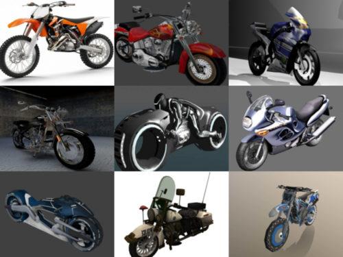 10 Ilmainen moottoripyörä OBJ 3D-mallit - viikko 2020-41