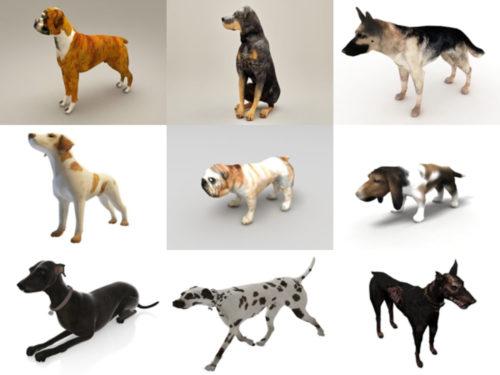 10 Realistic Dog Free 3D Models – Week 2020-41