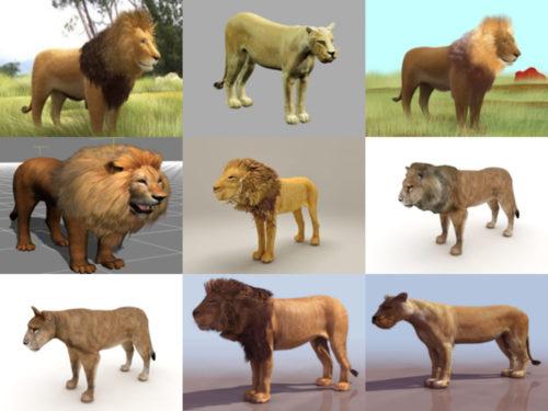 10 modelos 3D realistas sin leones
